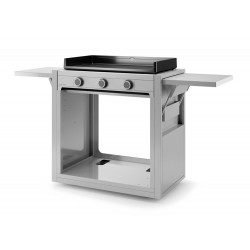 Chariot inox ouvert pour plancha Modern 75