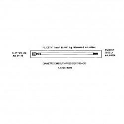 TRESSE DE CABLAGE SILICABLE 1MM2 LONGEUR 16cm DEG5mm EMBOUTS ET CLIPS