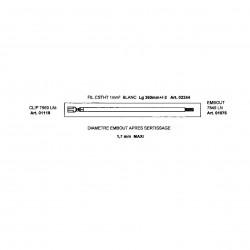 TRESSE DE CABLAGE SILICABLE 1MM2 LONGEUR 36cm DEG5mm EMBOUTS ET CLIPS