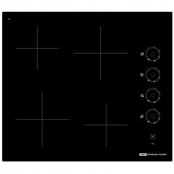 Table 4 zones vitrocéramique avec manette noire